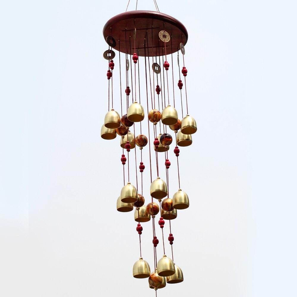 ⑤Yazi chino tradicional feng shui cobre 18 campanas carillones de ...