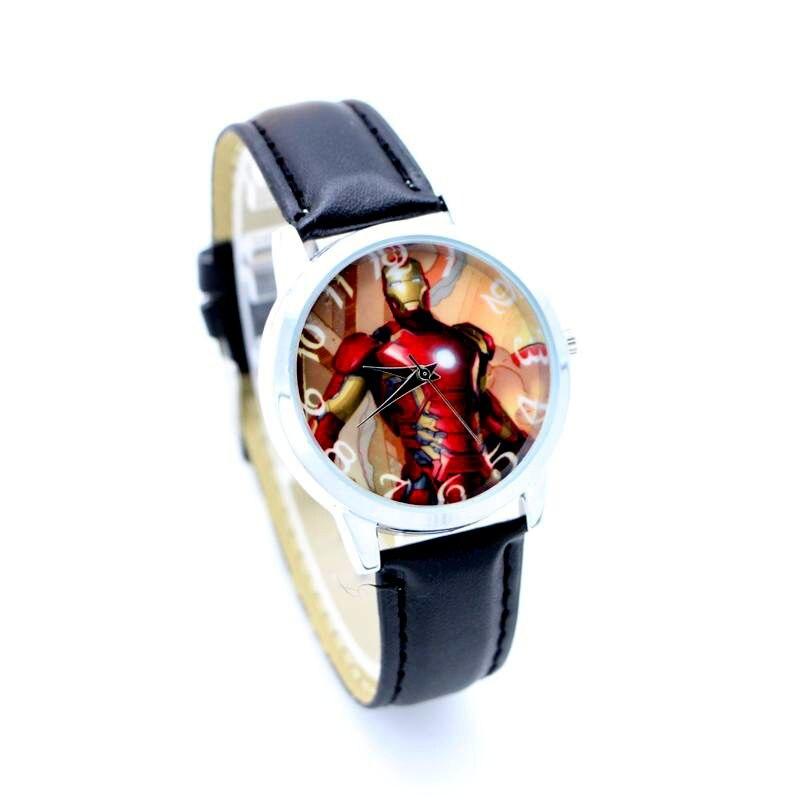 755114a4a35 Vingador de quartzo Adorável Ferro Relógio Homem Esportes Dos Miúdos Moda  Dos Desenhos Animados Assista Relógio