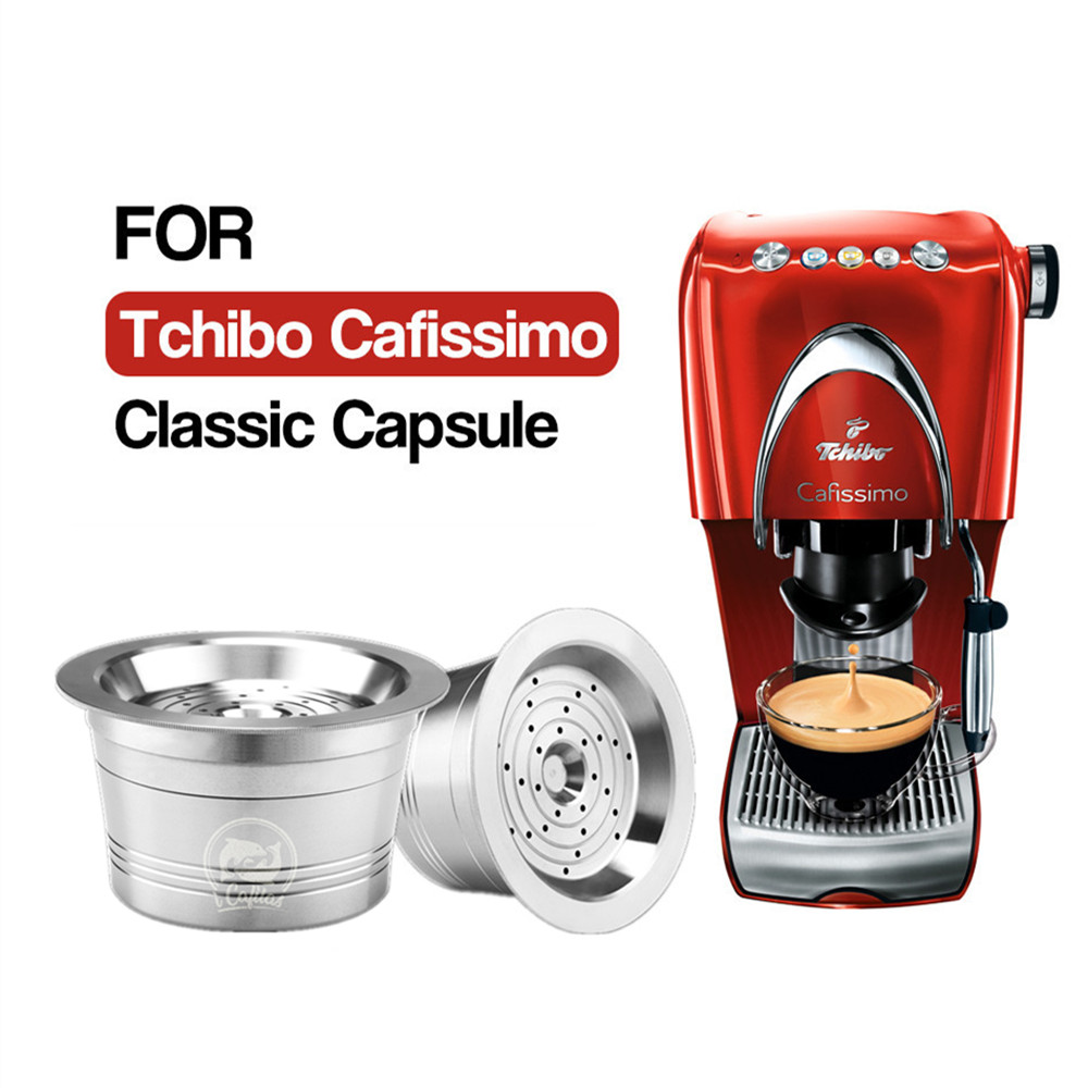 For Tchibo Cafissimo Classic For Caffitaly K-fee Refillable Coffee Capsule Pod Stainless Steel Cafeteira Filters Tamper Spoon