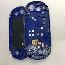 Blaca สีฟ้าและสีขาวเดิมใหม่ wifh กรอบสำหรับ PS Vita PSVita PSV 1 1000 100X จอ LCD หน้าจอดิจิตอลประกอบ
