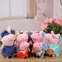 100% véritable Peppa Pig peluche jouets en peluche 19/30 cm Peppa George Pig Peppa familles cadeaux de noël pour enfants animaux en peluche jouets
