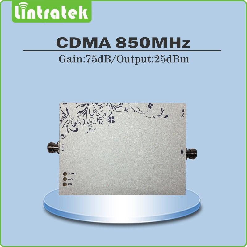 Mobile Signal CDMA 850 mhz Répéteur Gain 75dB CDMA repetidor de celular 850 mhz téléphone portable signal booster avec AGC MGC fonction