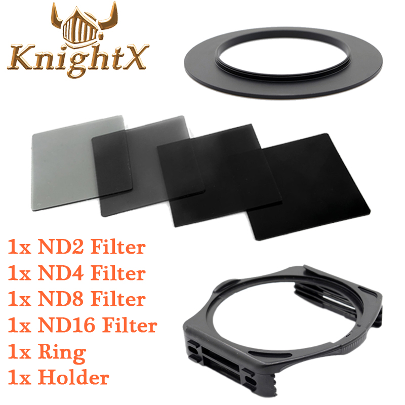 KnightX ND Filter SET For Cokin P Holder Adapter for Canon Sony Nikon D7100 D5300 D5200 D3300 D3200 D5500 DSLR 52 58MM 67 77MM