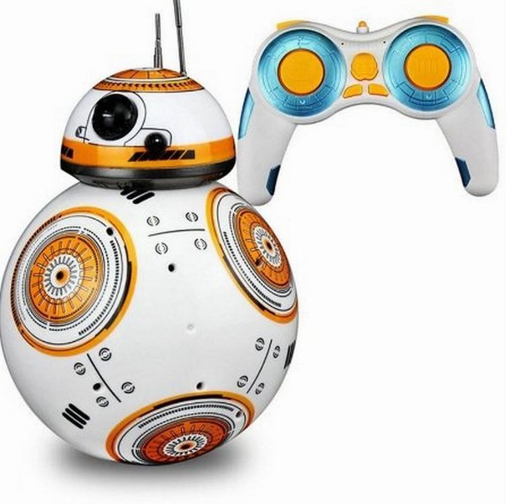 ФОТО Star Wars BB-8 Remote Control Robot Intelligent Robot Balancing Stunt Car Action Figure With Light And Music Toys
