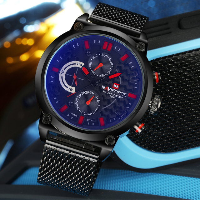 Reloj de cuarzo analógico de lujo