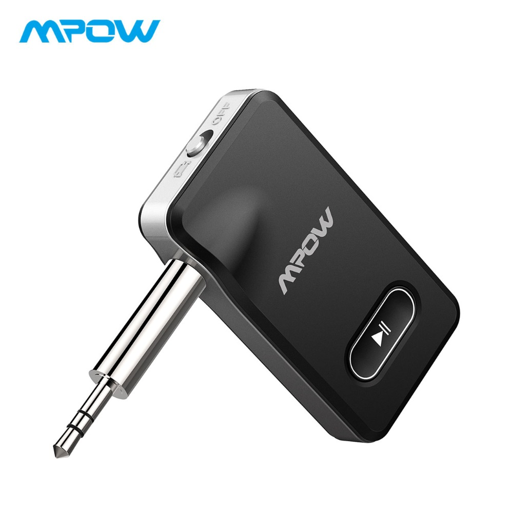 MPOW 2018 New 2-in-1 Bluetooth 4.1 Receiver Car Locator Hands-free Car Kits & Wireless Music Adapter for Car Audio Stereo System bq638 2 in 1 wireless bluetooth 4 1 headsets car charger in car headphone car kit earphone hands free calling for iphone android