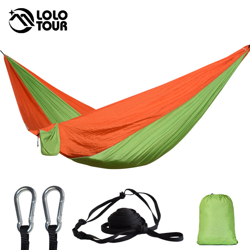 Outdoor Hammock Garden Camping Sports Home Travel Garden Hang Bed Double Person Leisure Travel Parachute Hammocks camping hiking travel kits garden leisure travel hammock portable parachute hammocks outdoor camping using reading sleeping
