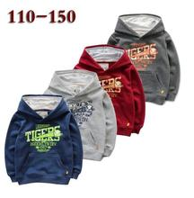 110-150 Children Sportswear Boys letter printing Terry cartoon Hooded fleece Kids Baby Hooded pullover top wholesale