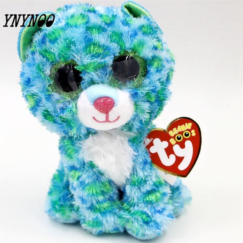 (Ynynoo) оригинальный ty Шапочка Боос большие Средства ухода для век плюшевые игрушки куклы Красочные зеленый Леопард Подарок для маленьких дет... ...