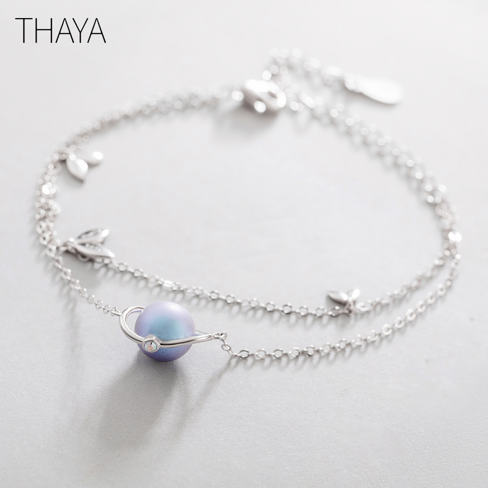 Thaya Midsummer Night's Dream Design' Bracelets S925 Silver Bracelet Female Fantasy Style Elegant Dainty Friendship Jewelry