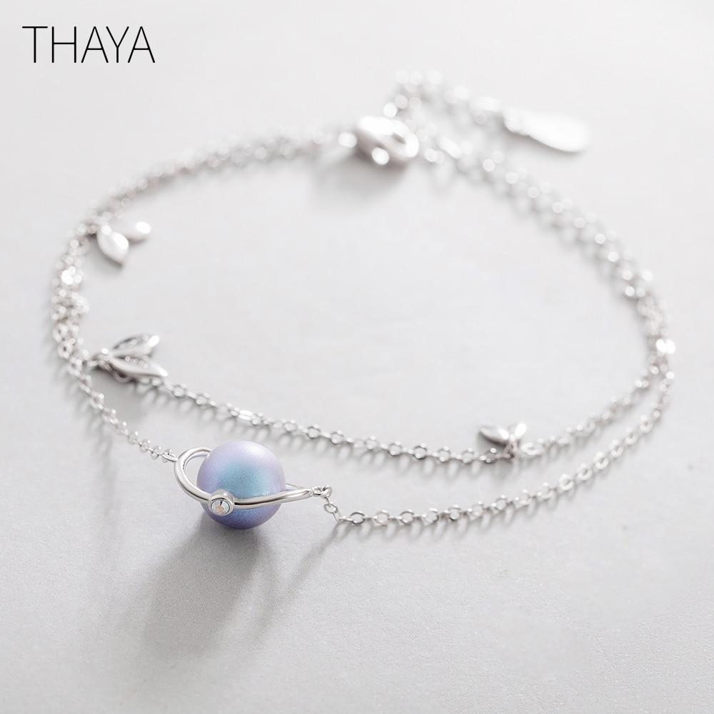 Thaya Midsummer Night's Dream Design' Bracelets s925 Silver Bracelet Female Fantasy style Elegant Dainty Friendship Jewelry