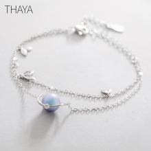 Thaya Midsummer Nights Dream Design Bracelets s925 Silver Bracelet Female Fantasy style Elegant Dainty Friendship Jewelry