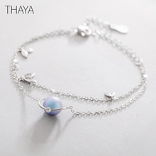Thaya Midsummer Night's Dream Design' Bracelets s925 Silver Bracelet Female Fantasy style Elegant Dainty Friendship Jewelry(China)