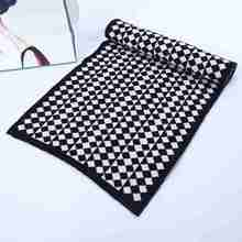 Winter Fashion Scarf Luxury Brand Tartan Cashmere Scarf Men Rhombus Striped Patchwork Scarves Christmas YJWD651