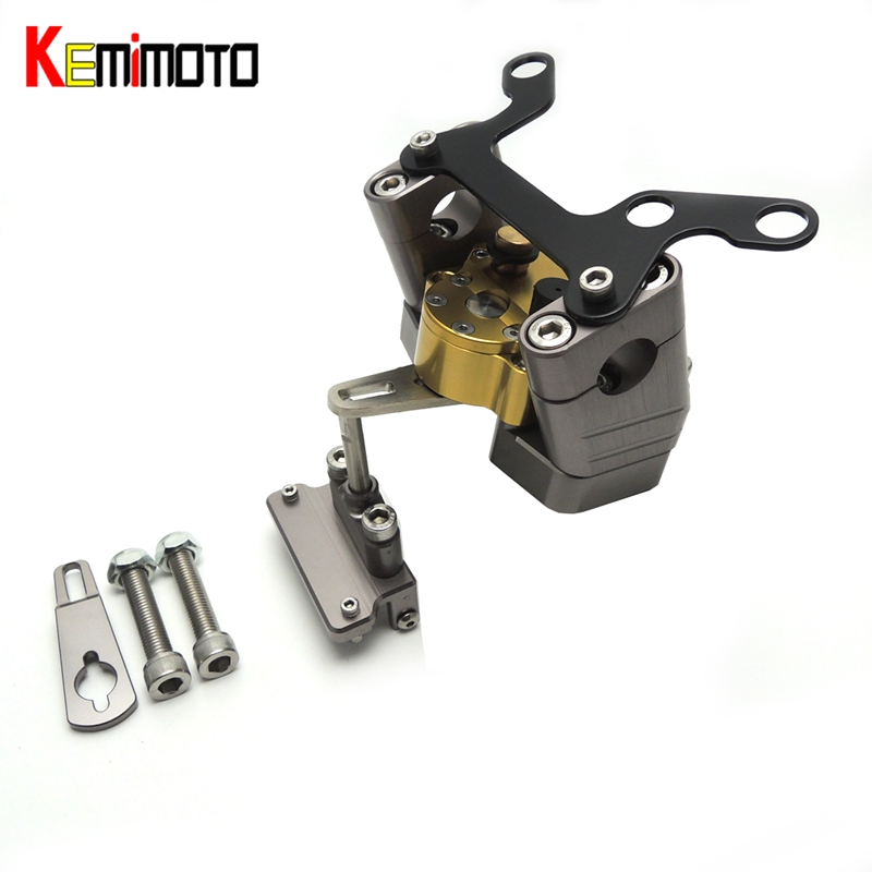 KEMiMOTO For YAMAHA MT07 MT 07 2014 2017 Motorcycle Accessories Steering Damper with Mounting Bracket Kit MT-07 FZ-07 2014-2017 for ktm 200 duke 2013 2014 390 duke 2014 2015 2016 motorcycle accessories steering damper stabilizer with mounting bracket kit