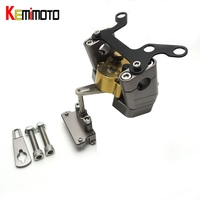 KEMiMOTO For YAMAHA MT07 MT 07 2014 2017 Motorcycle Accessories Steering Damper with Mounting Bracket Kit MT 07 FZ 07 2014 2017
