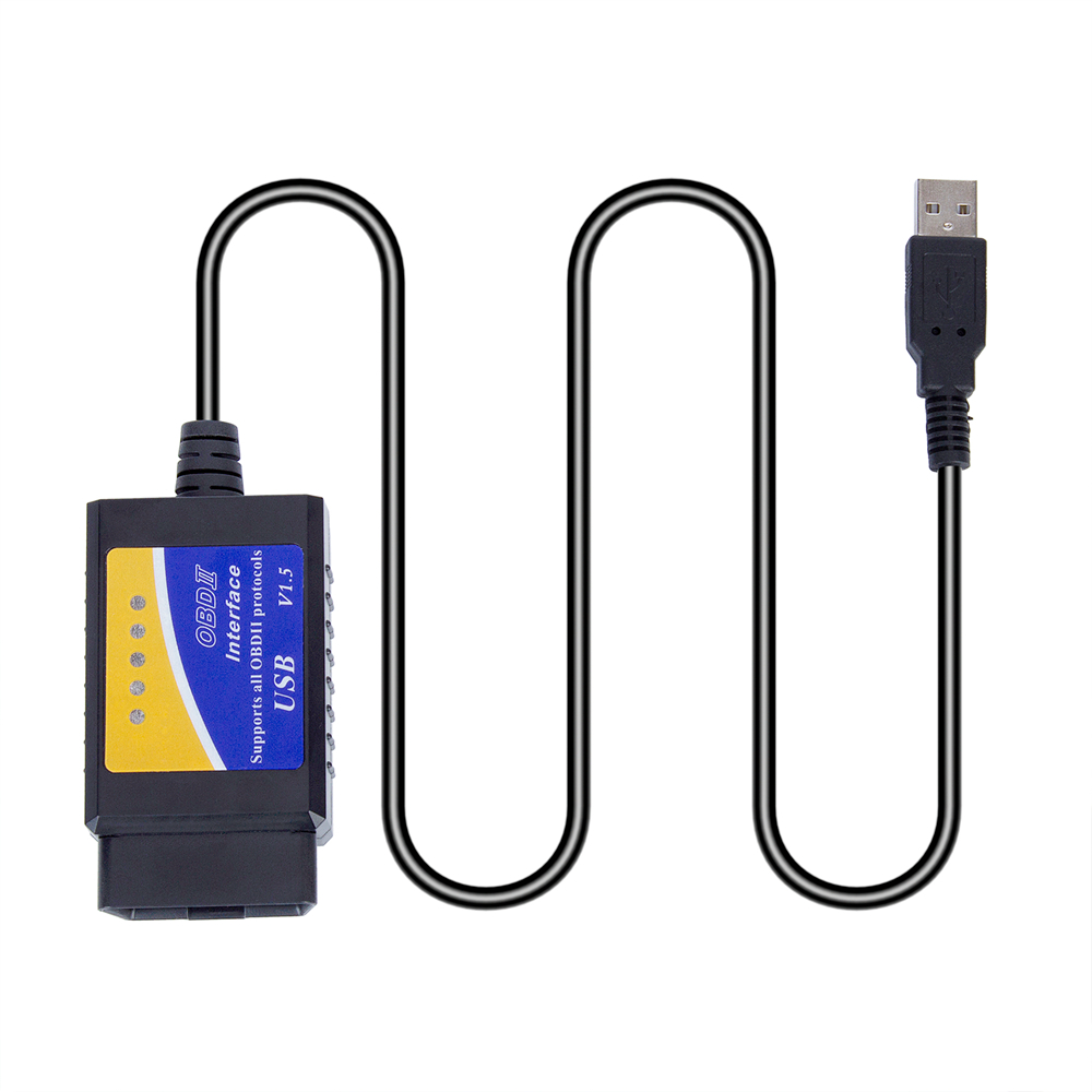 <font><b>ELM</b></font> <font><b>327</b></font> <font><b>V1.5</b></font> OBD 2 ELM327 <font><b>USB</b></font> Interface CAN-BUS Scanner Diagnostic Tool Cable Code Support OBD-II Protocols Diagnostic-tool image