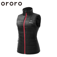 ORORO Fashion Vrouwen/Dames Windjack Elektrische Verwarmde Bodywarmer Sleevless Fleece Winter/Herfst Vest Tops Zwart Bodywarm Jacket