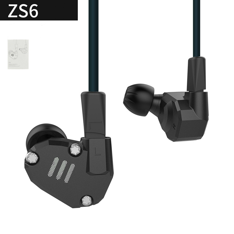 Pre-sale Original New KZ ZS6 2DD+2BA Hybrid In Ear Earphone HIFI DJ Monito Running Sport ...