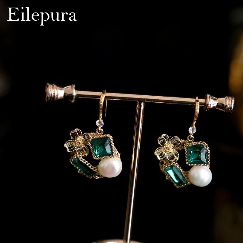 Eilepura Original Design Natural Fresh Water Baroque Pearl For Women Shape Drop Earrings Fine Jewelry Boucles Femme