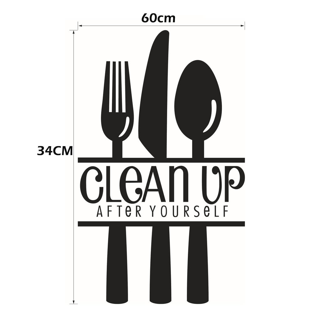 3D Tapeten Englisch Buchstaben Bereinigen Küche Restaurant ...
