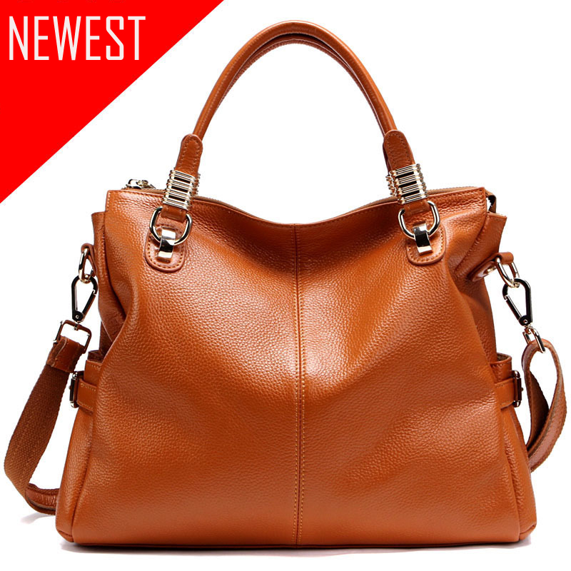 New Arrival Genuine Leather Handbag Ladies Cow Leather Shoulder Bags Women Real Leather Bags Female Multi