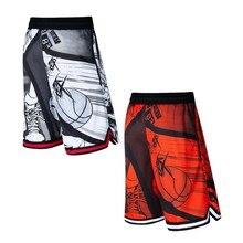 Спортивные мужские шорты для занятия баскетболом мультяшное изображение 3D принты выше колена карманы кушак быстросохнущие дышащие аниме Nijigenn плюс размер 3XL