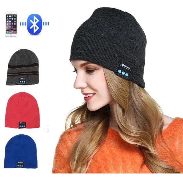 Wireless Bluetooth Headphones Sport Music Hat Smart Headsets Beanie Cap Warm Outdoor Winter Cap with Mic for Xiaomi Earphone