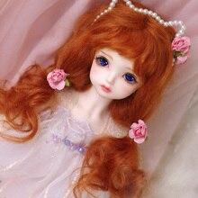 BJD кукла парики красный цвет редиски из мохера парики для 1/3 1/4 1/6 1/8 1/12 BJD DD SD MSD YOSD кукла длинные вьющиеся волосы парики аксессуары для куклы