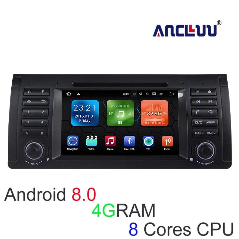 Lecteur DVD de voiture 4G RAM Android 8.0 pour BMW BMW E39 X5 M5 E38 E53 autoradio GPS stéréo navigateur magnétophone support wifi canbus