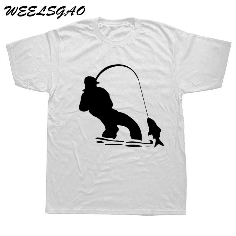 WEELSGAO Summer Fishinger Fisherman T Shirt Fashion O-neck Short Sleeve Cotton T-Shirt Men Clothing Tops