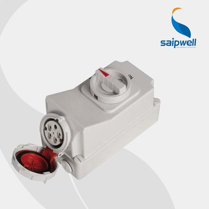 IP67 5 P 32A 400 V Interruttore di Interblocco Socket (SP-5608)IP67 5 P 32A 400 V Interruttore di Interblocco Socket (SP-5608)