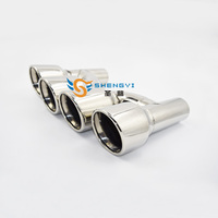 High quality forAU*DI A4 A5 A6 A7 Modified to S4 S5 S6 S7 Car Vehicle Exhaust Tail Muffler Tip Stainless steel pipe muffelr tip