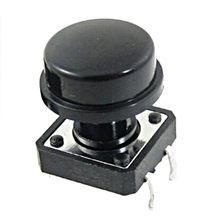 10 adet 4 Pin dokunsal basmalı düğme anahtarı kapaklı anlık inceliğini anahtarı 12x12x12mm