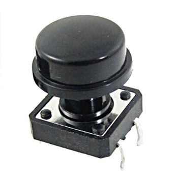 цена на 10pcs 4 Pin Tactile Push Button Switch  With Cap Momentary Tact Switch 12x12x12mm