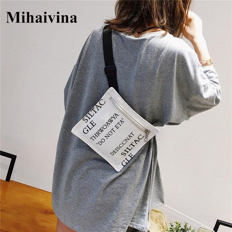 Mihaivina Fashion Fanny Packs For Women Waist Bag Letter Desiccant Modeling Shoulder Bags Lady Crossbody Chest Bag Handbag Bolsa
