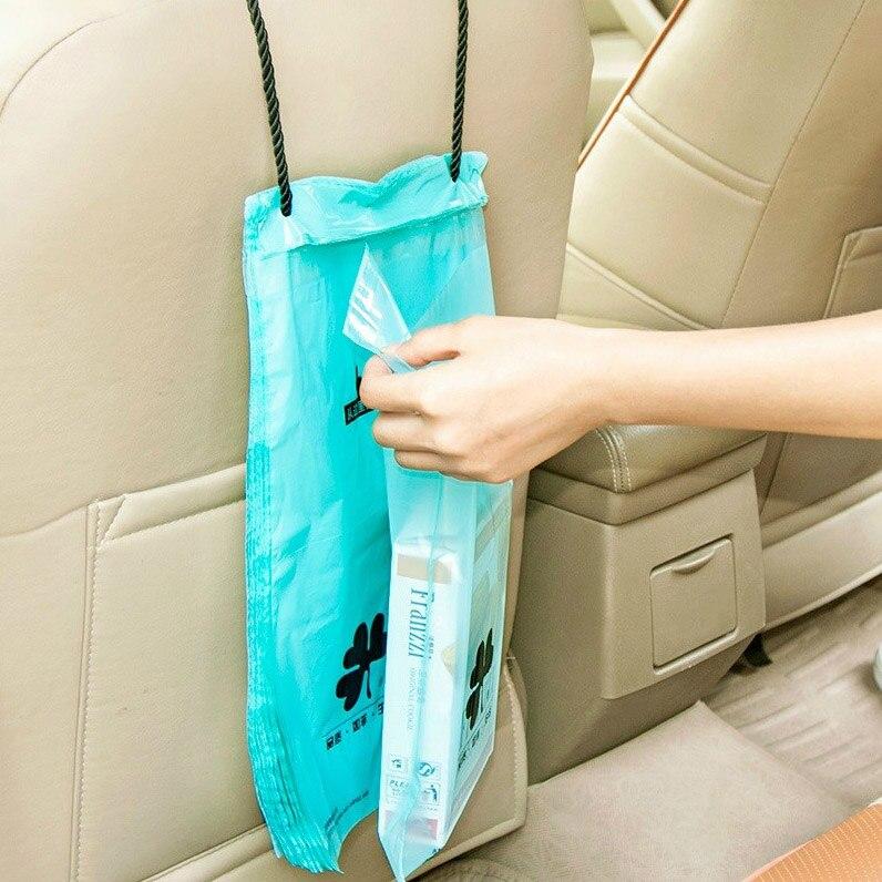 50pcs Disposable Car Garbage Bag Car Trash Dust Case Holder Bin Car-styling Hanging Bag Sundries Bag Auto  Accessories