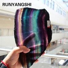 Flúor natural cristal colorido listrado, fluorite arco íris quartzo jóias pedra enfeites cristal original para presentes