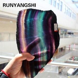 Image 1 - Natuurlijke Fluoriet Crystal Kleurrijke Gestreepte Fluoriet Rainbow Quartz Sieraden Stenen Ornamenten Crystal Originele Voor Geschenken