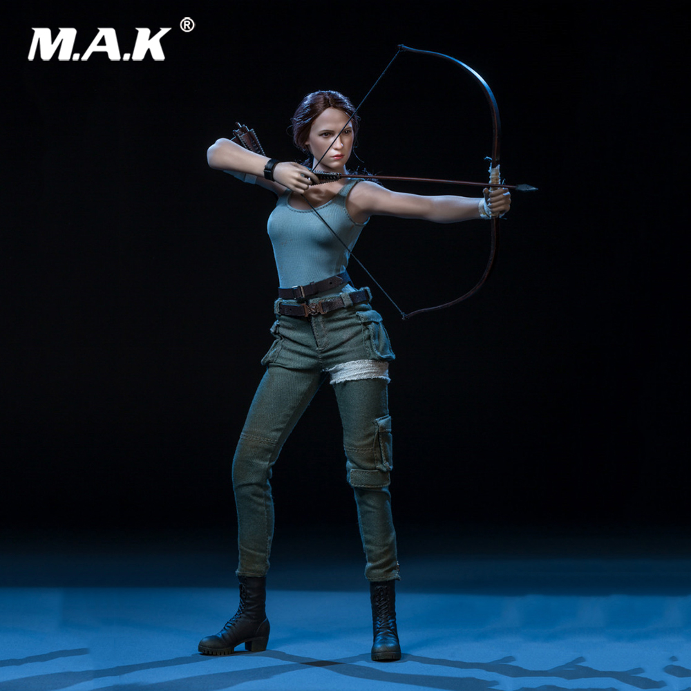 1/6 Scale Collectible Full Set Sexy Female The Explorer Tomb Raider Lara Croft Action Figure with Double Head for Fans Gifts1/6 Scale Collectible Full Set Sexy Female The Explorer Tomb Raider Lara Croft Action Figure with Double Head for Fans Gifts