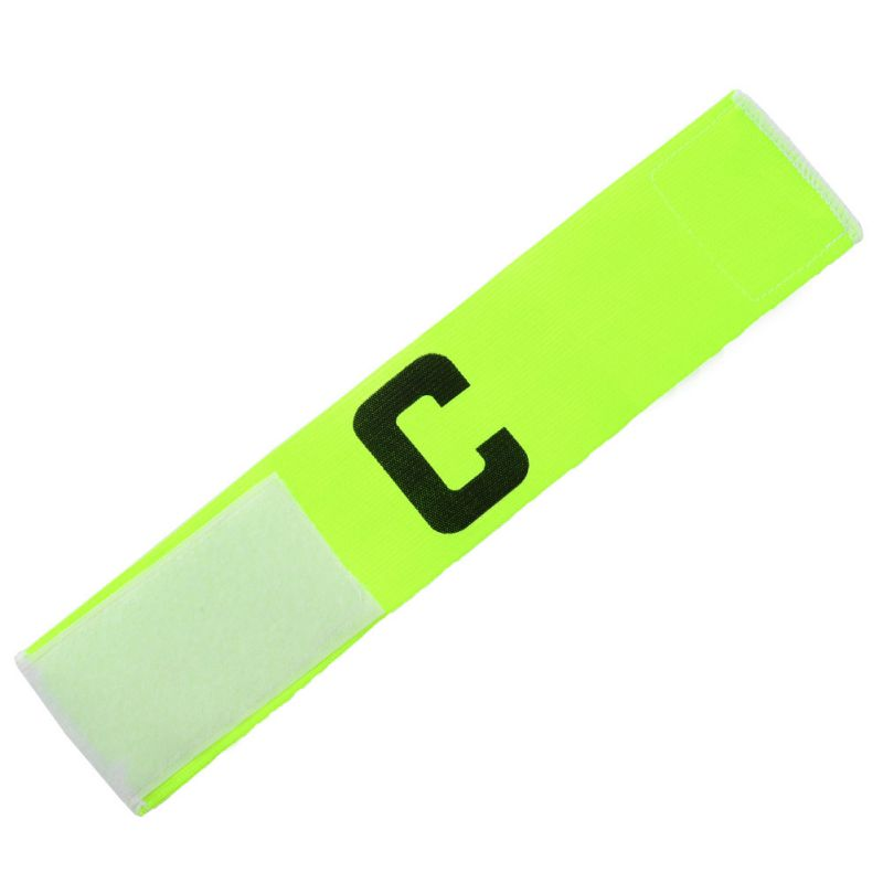 NEW Fluorescent Football Soccer Player Sport Flexible Sports Adjustable Bands Fluorescent Captain Armband image