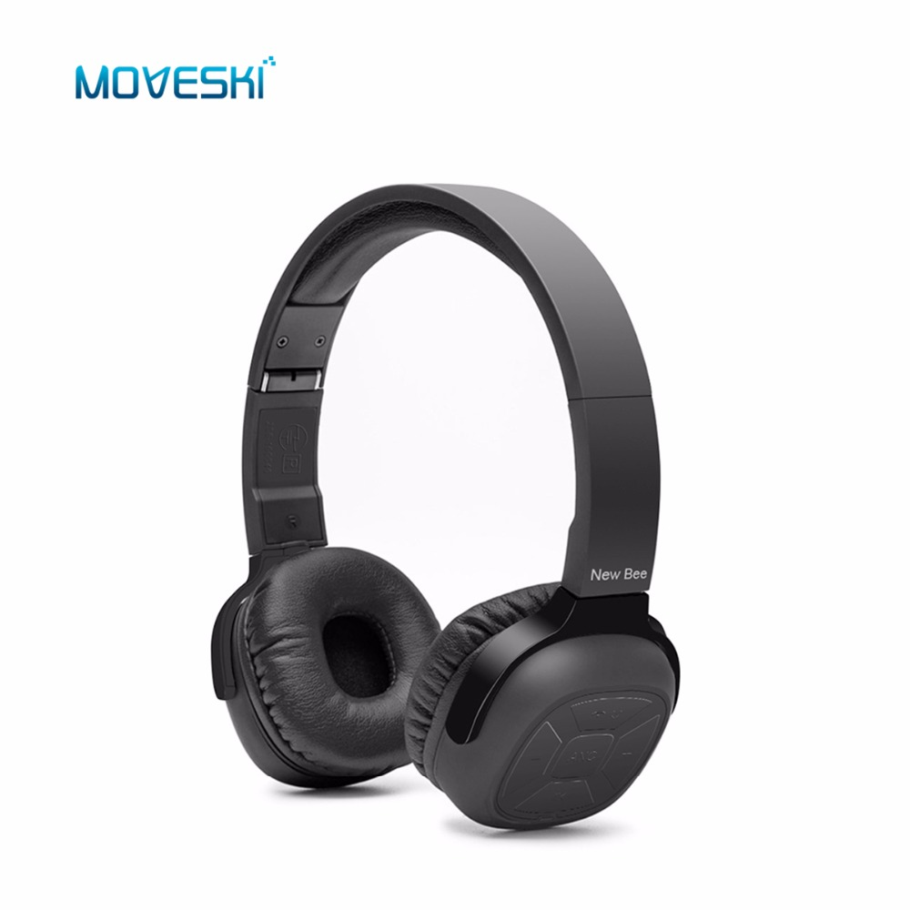 Moveski NB6S Active Noise Cancelling NFC Bluetooth Headphone Long Standby Foldable Wired headset with Mic for Cell Phone PC TV wireless bluetooth headphone active noise cancelling foldable earphone stereo with mic headset for mobile phone xiaomi iphone pc