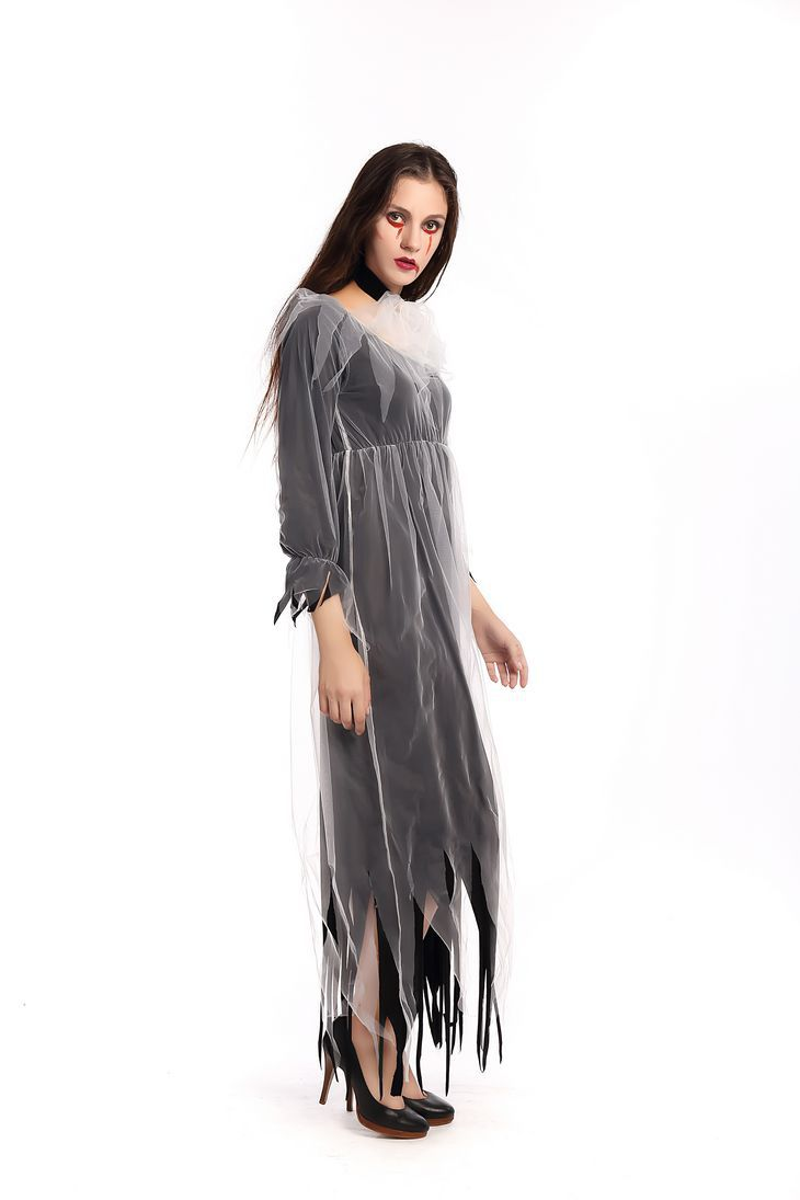 Halloween Horror Blutige Vampire Zombie Cosplay Kleid Geisterbraut ...