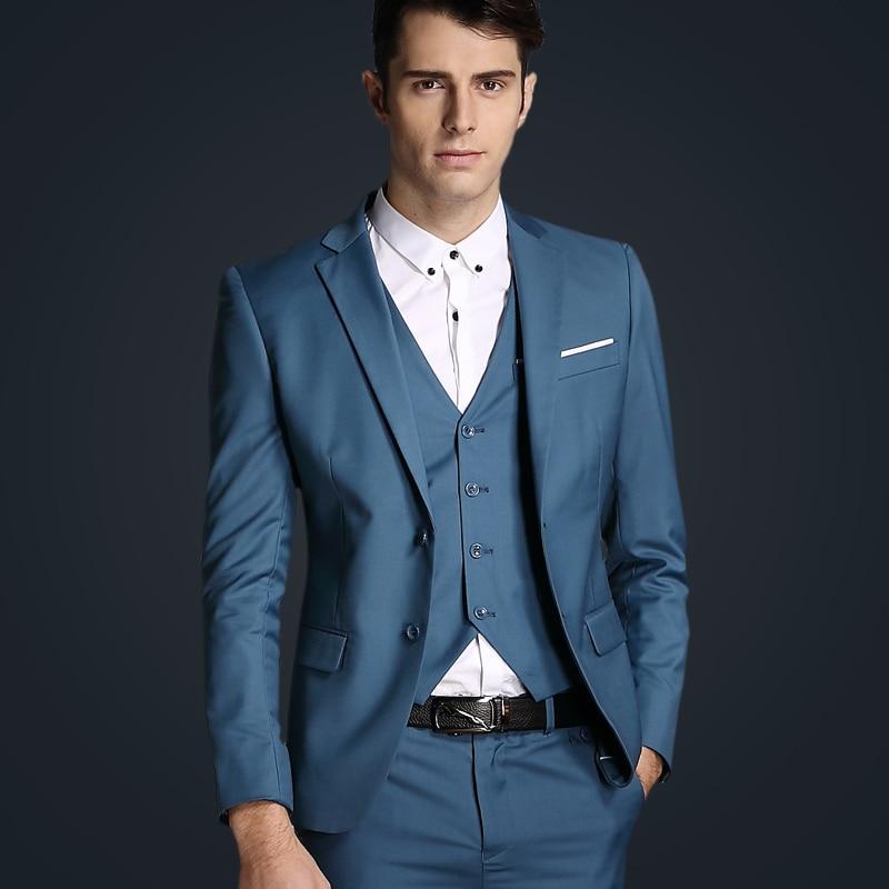 Top Brand terno slim fit Elegant Gentleman casual Men suit 2017 ...