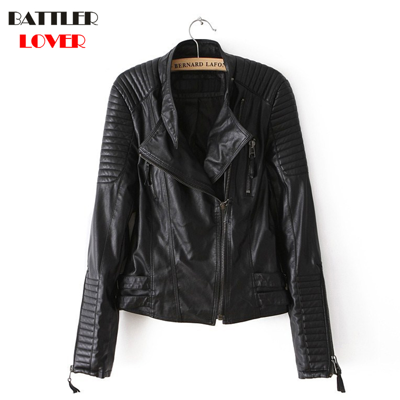 BATTLERLOVER Women Short   Leather   Jacket Womens Plaid Luxury Designer Slim Fit Flight Jacket Coat Winter Outwear Biker Jackets