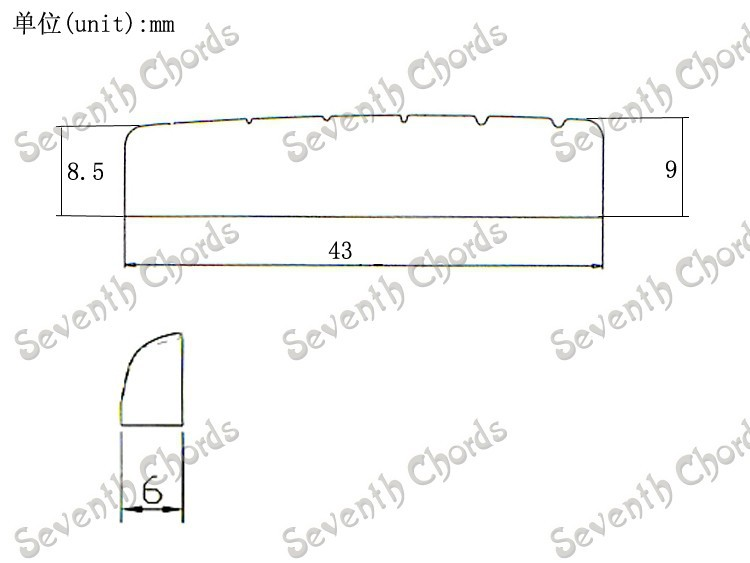 5 Set Nut Bridge Saddle Set For Acoustic Guitar Nut Size 43x6x9
