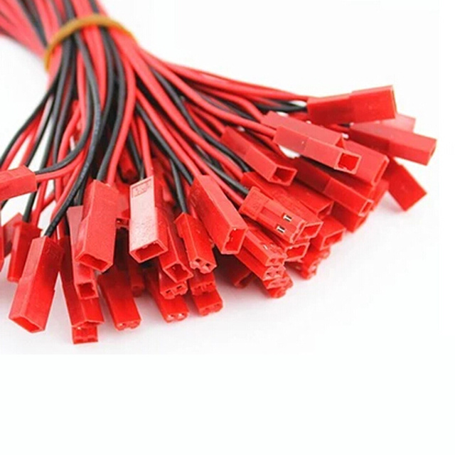 10 pares al por mayor rc helicóptero piezas 100mm JST conector enchufe para RC Lipo batería con Cable de conexión para RC BEC ESC batería
