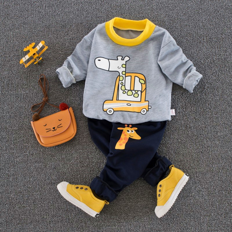 Baby Boy Girl Clothes Set Newborn Clothing Infant Sweatshirt +pants Causual Sports Suit 9M-24M newborn baby boy girl 5 pcs clothing set cotton cartoon monk tops pants bib hats infant clothes 0 3 months hight quality