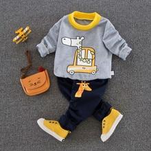 Baby Boy Girl Clothes Set Newborn Clothing Infant Sweatshirt +pants Causual Sports Suit 9M-24M
