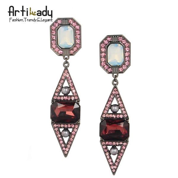 Artilady crystal waterdrop earrings  fashion 2015 winter retro vintage statement women earring jewelry free shipping